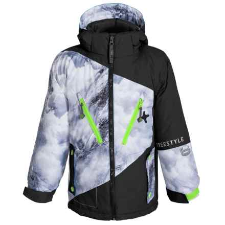 Big Chill Snow Print System Ski Jacket - 3-in-1, Insulated (For Little Boys) in Black - Closeouts
