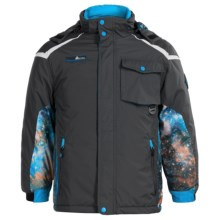 Big Chill Space Print System Ski Jacket - 3-in-1, Insulated (For Big Boys) in Black - Closeouts