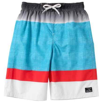 Big Chill Swim Trunks - UPF 50 (For Big Boys) in Black - Closeouts