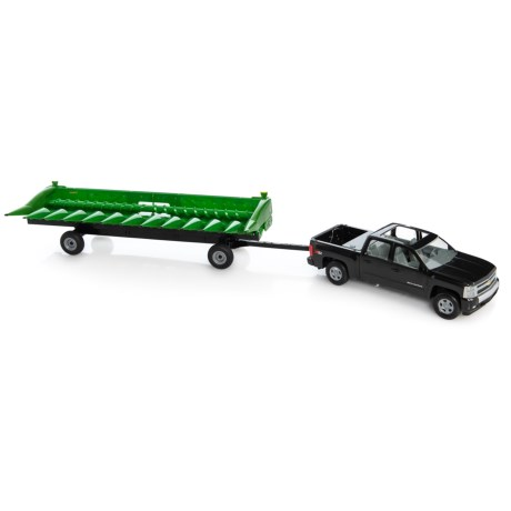 Image of Big Farm Chevy Truck with John Deere Corn Head and Cart - 3-Piece