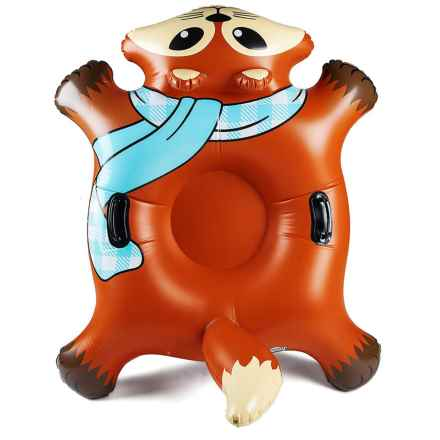 """BIG MOUTH Giant Flyin' Fox Snow Tube - Inflatable, 48x40x25"""" in Orange - Closeouts"""