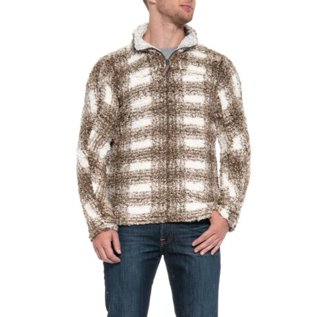 Image of Big Plaid Frosty Tipped Shirt - Zip Neck, Long Sleeve (For Men)