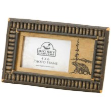 "Big Sky Carvers Black Twig Photo Frame - 4x6"" in Bear - Closeouts"
