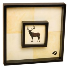"Big Sky Carvers Brushwerks Wall Art - 12x12"" in Elk - Closeouts"