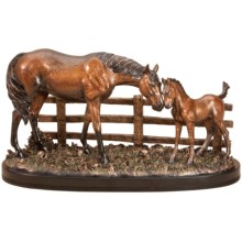 Big Sky Carvers Marc Pierce Sculpture - Mare and Foal Maternal Love in See Photo - Closeouts