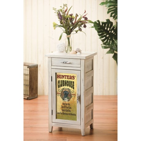 Big Sky Carvers Meissenburg Single Cabinet in Whitewash/Clubhouse Lab