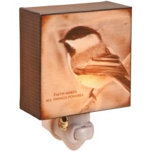 Big Sky Carvers Night Light - Inspirations from the Wildside in Chickadee - Faith - Closeouts