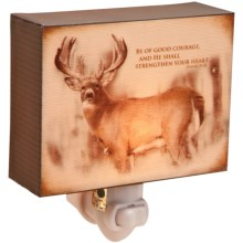 Big Sky Carvers Night Light - Inspirations from the Wildside in Deer - Courage - Closeouts