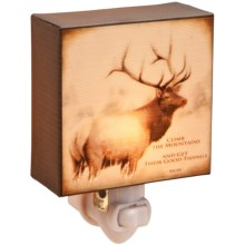 Big Sky Carvers Night Light - Inspirations from the Wildside in Elk - Climb - Closeouts