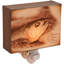 Big Sky Carvers Night Light - Inspirations from the Wildside in Trout - Recreation - Closeouts