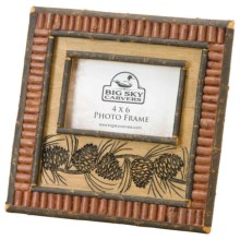 "Big Sky Carvers Red Twig Photo Frame - 4x6"" in Pinecone - Closeouts"