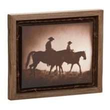 Big Sky Carvers The Journey Barnwood Shadow Box in See Photo - Closeouts