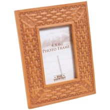 """Big Sky Carvers Tooled Cowboy Photo Frame - 4x6"""" in Basket Weave - Closeouts"""