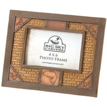 Big Sky Carvers Tooled Photo Frame - 4x6 in Trout - Closeouts