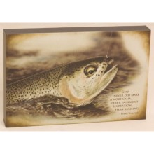 "Big Sky Carvers Trout ""Quiet Recreation"" Wall Art - 12x8"" in Trout - Closeouts"