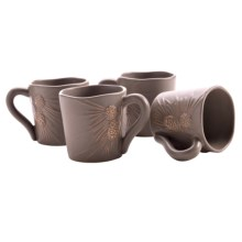 Big Sky Carvers Whispering Pines Stoneware Coffee Mugs - Set of 4 in Whispering Pines - Closeouts