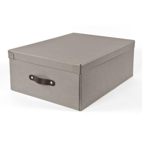 "Bigso Wilmer Knock-Down Medium Storage Box - 17.5x13x6.5"" in Grey"