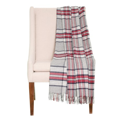 Image of Bilbao Check Throw Blanket - Merino Wool, 54x64?