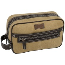 Bill Adler Canvas Dopp Kit in Brown/Khaki - Closeouts