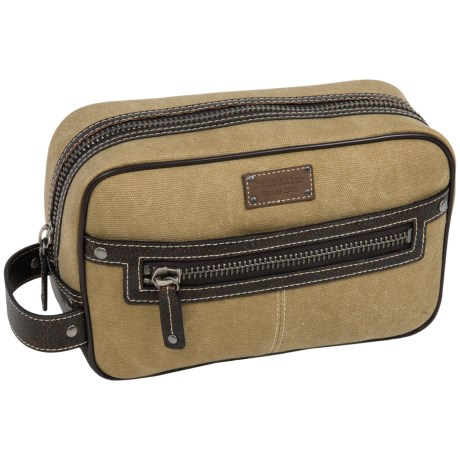 Bill Adler Canvas Dopp Kit in Black/Dark Grey