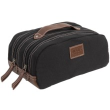 Bill Adler Canvas Travel Kit in Black - Closeouts