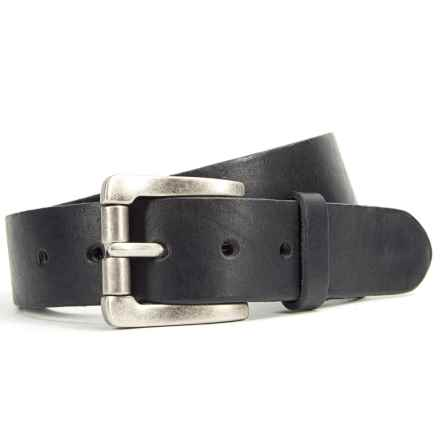 Bill Adler Classic Vintage Belt - Leather (For Men) in Black - Closeouts