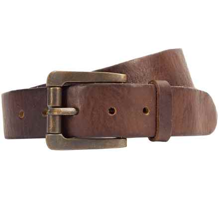 Bill Adler Classic Vintage Belt - Leather (For Men) in Brown - Closeouts