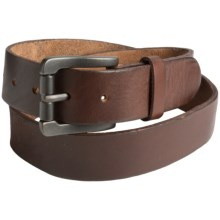 Bill Adler Classic Vintage Leather Belt (For Men) in Brown - Closeouts