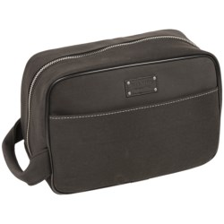 Bill Adler Crazy Horse Vintage Dopp Kit in Black