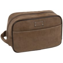 Bill Adler Crazy Horse Vintage Dopp Kit in Brown - Closeouts