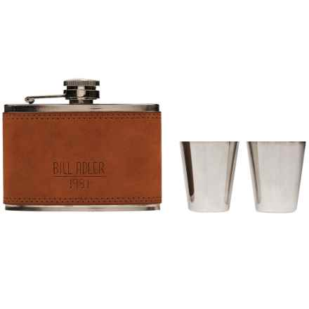 Bill Adler Flask and Shotglass Set in Cognac - Closeouts