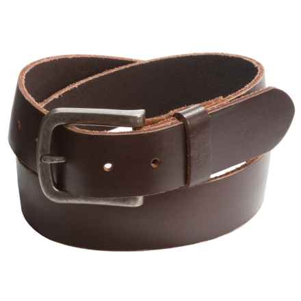 Bill Adler Flat-Strap Leather Belt (For Men) in Brown - Closeouts