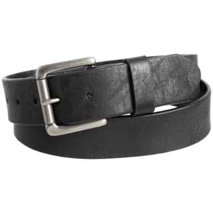 Bill Adler Jaxson Leather Belt (For Men) in Black - Closeouts
