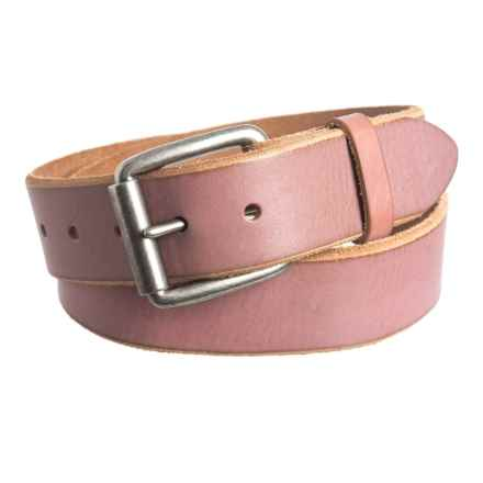 Bill Adler Jelly Bean Belt - Leather (For Men) in Bubblegum - Closeouts