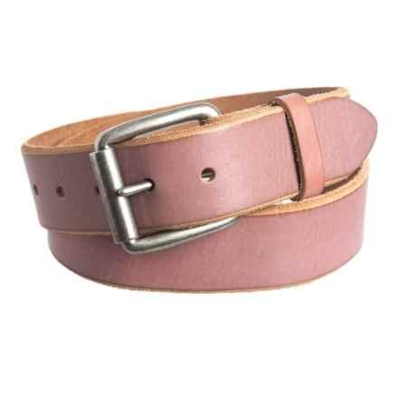 Bill Adler Jelly Bean Belt - Leather (For Men) in Bubblegum - Closeouts