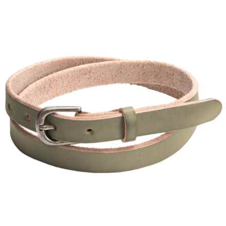 Bill Adler Jelly Bean Skinny Belt - Leather (For Women) in Green Apple - Closeouts
