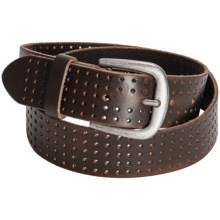 Bill Adler Perforated Leather Jean Belt (For Men) in Brown - Closeouts