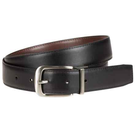 Bill Adler Reversible Feather-Edge Leather Belt - 32mm (For Men) in Brown/Black - Closeouts