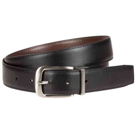Bill Adler Reversible Feather-Edge Leather Belt - 32mm (For Men)