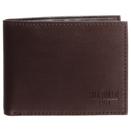 Bill Adler RFID Billfold Wallet (For Men) in Brown
