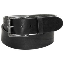 Bill Adler Richmond Belt - Leather (For Men) in Black - Closeouts