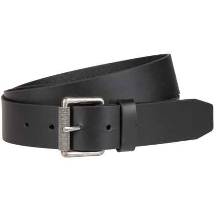 Bill Adler Roller Buckle Leather Belt (For Men) in Black - Closeouts