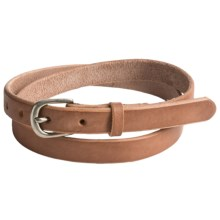 Bill Adler Skinny Jelly Bean Leather Belt (For Women) in Tan - Closeouts