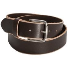 Bill Adler Skive Edge Belt - Leather (For Men) in Brown - Closeouts