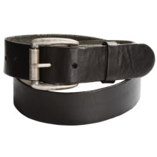 Bill Adler Smooth Leather Belt (For Men) in Black - Closeouts
