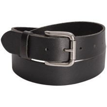 Bill Adler Smooth Leather Jean Belt (For Men) in Black - Closeouts