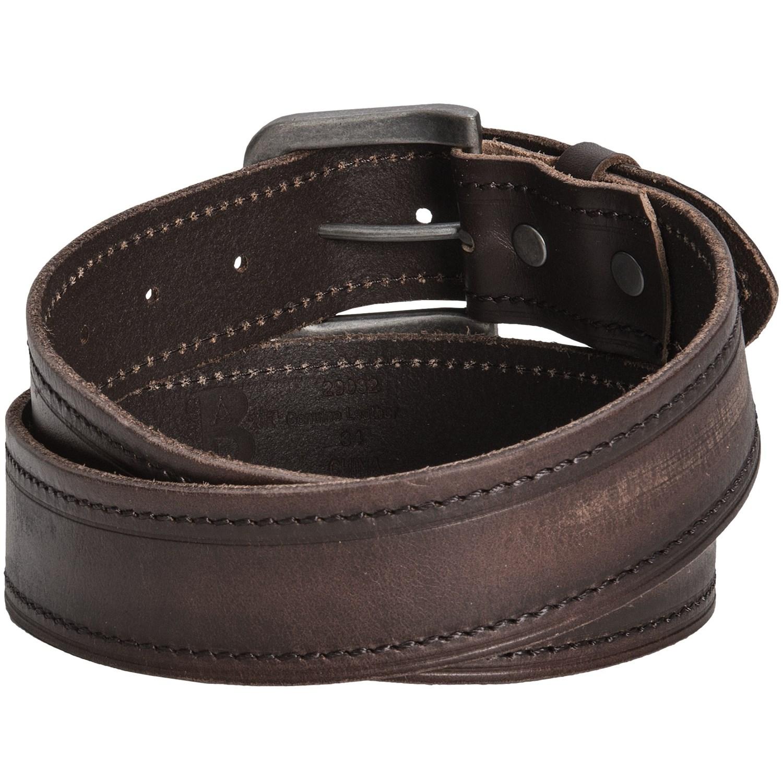 bill adler stitched leather belt for 7722d save 74