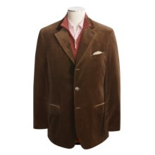 Bill Blass Velvet Sport Coat - Cotton (For Men) in Brown - Closeouts