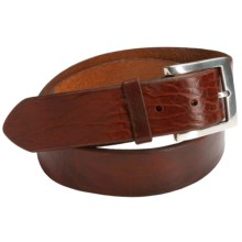 Bill Lavin Beveled Edge Belt - Leather (For Men) in Cognac - Closeouts