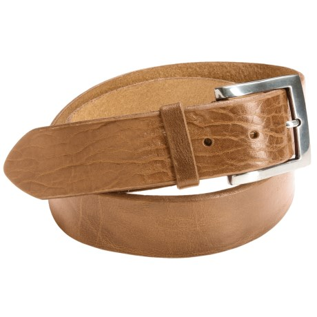 Bill Lavin Beveled Edge Belt - Leather (For Men) in Natural